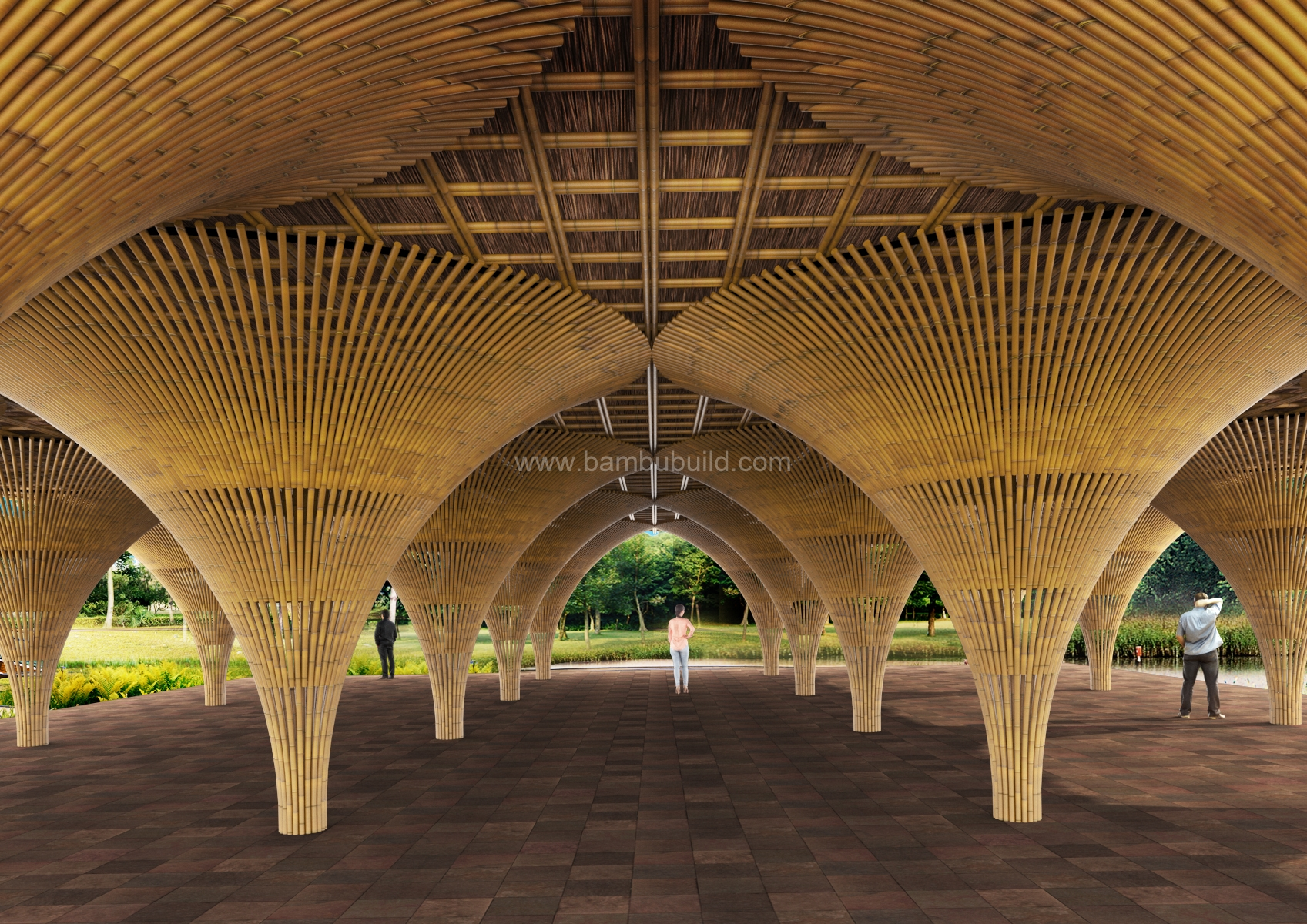 The Multi Column House Bamboo Architecture