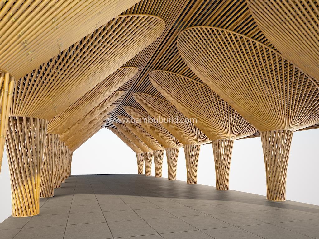 Kết cấu tre giúp làm đẹp không gian